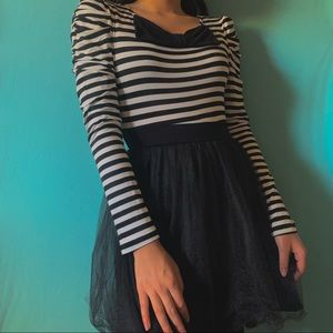 Striped Tulle Dress
